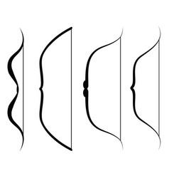 bow icon set vector image