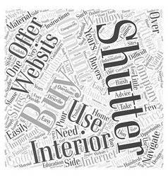 Buying Interior Shutters Online Word Cloud Concept vector image vector image