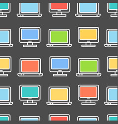 computer screen symbol seamless pattern background vector image vector image