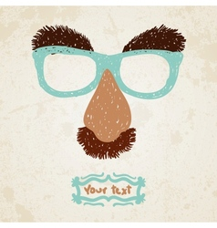 Doodle disguise mask easily added on to a face vector image vector image