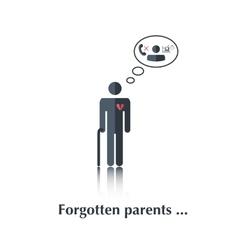 Forgotten parents vector image vector image