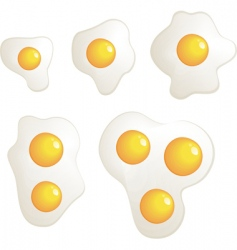 omelet evolution set vector image vector image