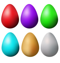 Classic easter eggs set isolated colorful easter vector