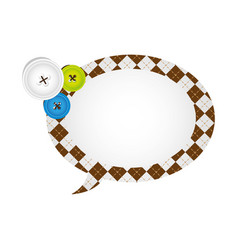 figures oval chat bubbles icon vector image