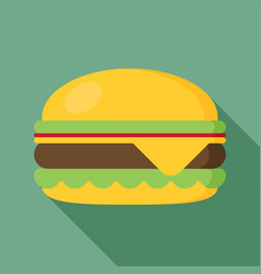 Hamburger icon with long shadow flat style vector