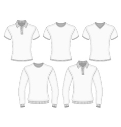 Mens polo shirt and t-shirt vector