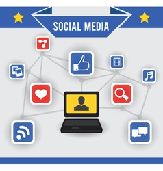 Abstract concept of social media vector image