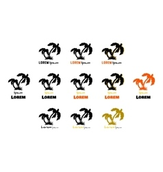 Black Palms Logo vector image