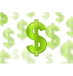 Dollar sign green color vector image