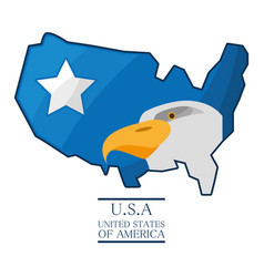 Nice eagle with piece of american flag vector