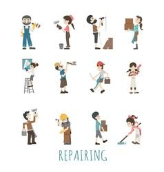 Repair house eps10 format vector image vector image