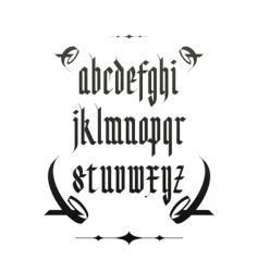vintage gothic font vector image vector image