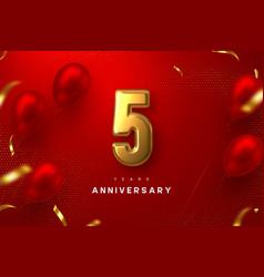 5 years anniversary celebration banner vector