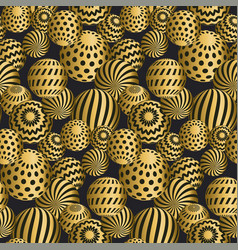 abstract beads seamless pattern vector image