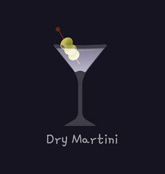 alcohol dry martini vector image