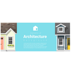 Architecture background with a small houses vector