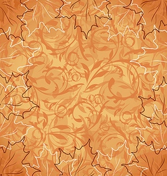 Autumnal maple seamless floral background vector image