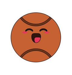 basketball ball happy character cartoon icon image vector image