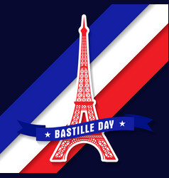 bastille day 14th of july vector image