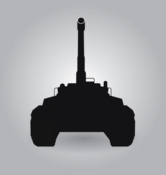 black big military tank silhouette vector image