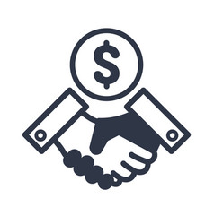 business agreement - dollars vector image