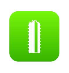 Cactus plant icon digital green vector