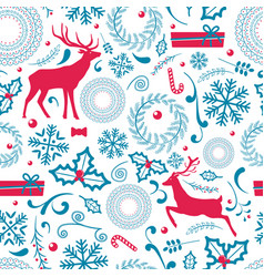 christmas pattern lots of icon vector image