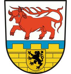 Coat of arms of oberspreewald-lausitz in vector