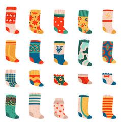 cute socks colorful funny cotton socks warm vector image