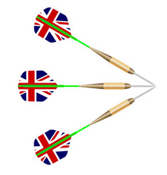 darts with union jack flag vector image