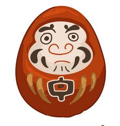 Daruma doll japanese tradition wishing luck vector