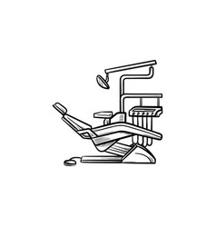 dental chair hand drawn outline doodle icon vector image