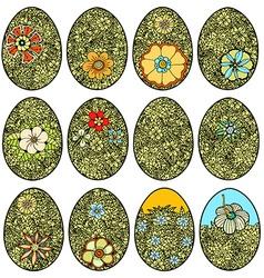 Doodle Easter Egg vector image