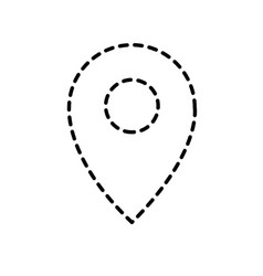 dotted shape location symbol to destination vector image