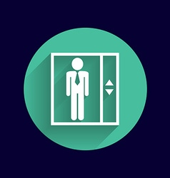 Elevator icon button logo symbol concept vector