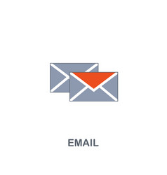 email icon premium two colors style design from vector image