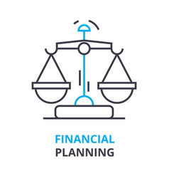 financial planning concept outline icon linear vector image