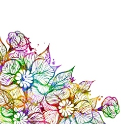 Floral background with flowers EPS10 vector