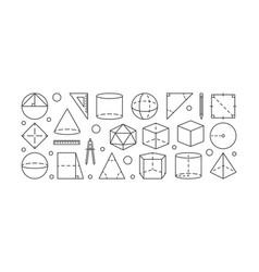 geometry line horizontal vector image