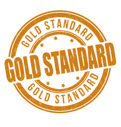 Gold standard grunge rubber stamp vector