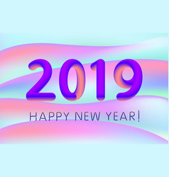 gradient design 2019 happy new year for banner or vector image