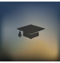 Graduation icon on blurred background vector