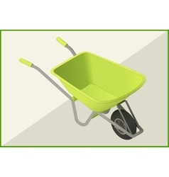 hand-barrow isometric flat 3d vector image