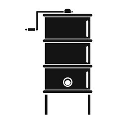 Honey centrifuge icon simple style vector