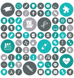 icons for education science and medical vector image