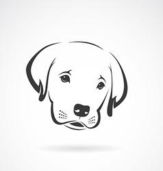 Image of an labrador puppy face vector