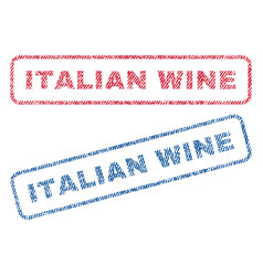 Italian wine textile stamps vector