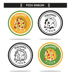 italiano pizza emblem vector image