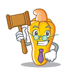 judge cashew mascot cartoon style vector image