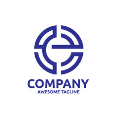 letter e logo concept vector image